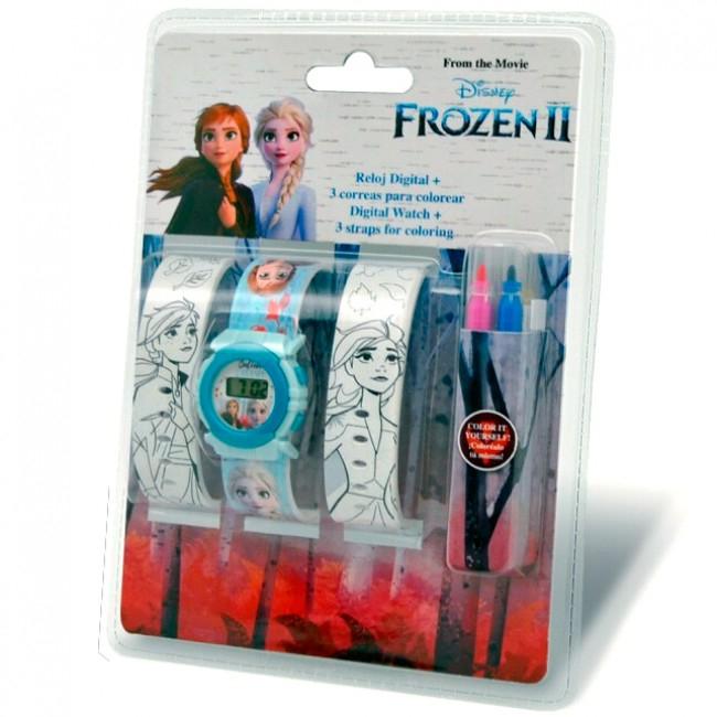 Ceas mana digital Frozen II cu bratara de colorat [0]