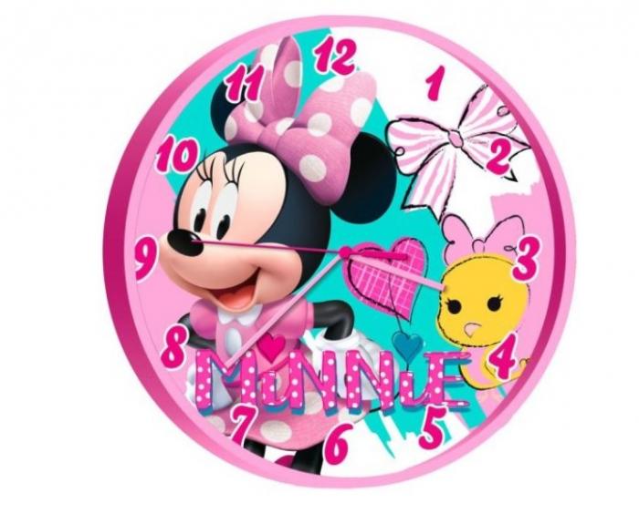 Ceas perete Minnie Mouse roz 25 cm 0