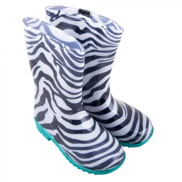 Cizme cauciuc Zebra,bleu [2]