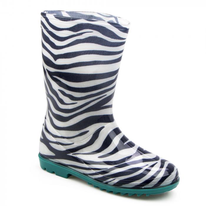 Cizme cauciuc Zebra,bleu [0]