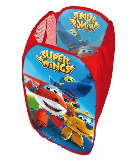 Cos textil Avioane Super Wings pentru jucarii,rosu 0