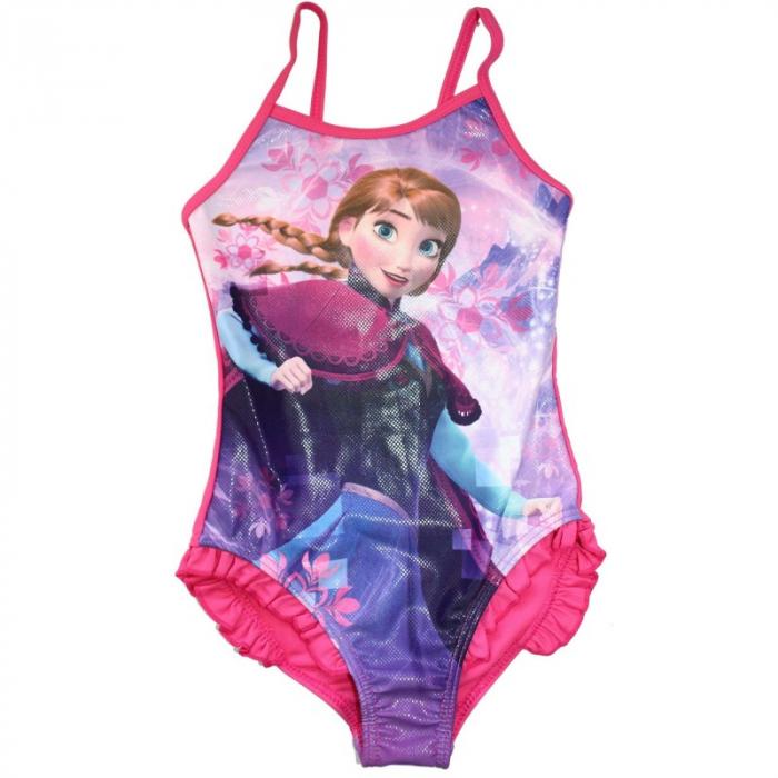 Costum baie, intreg Ana Frozen, fucsia 6 ani 0