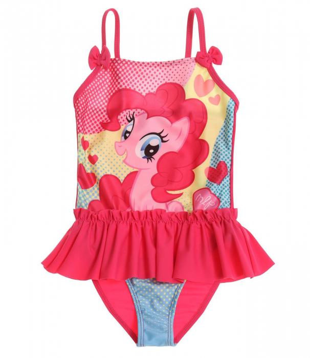 Costum baie intreg cu volan My little pony , 92 cm, 2 ani 0