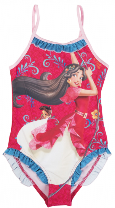 Costum baie, intreg Elena din Avalor rosu 3 ani 0