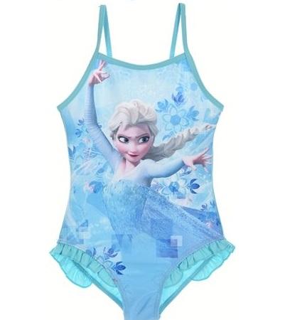 Costum baie, intreg Elsa Frozen, bleu 5 ani 0