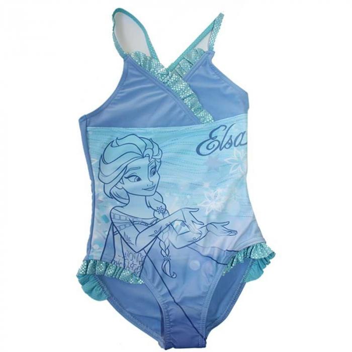 Costum baie intreg Frozen bleu, 4 ani, 104 cm 2