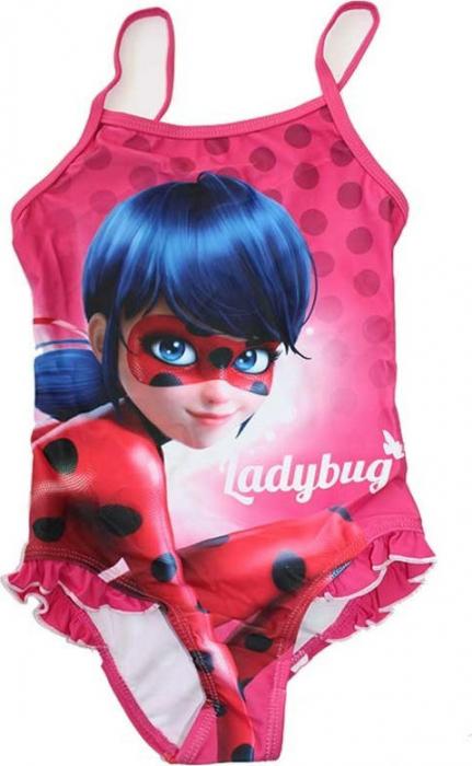 Costum baie, intreg Ladybug, roz, 6 ani , 116 cm 1