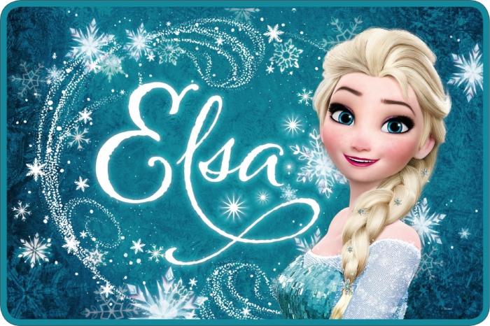 Covor Frozen Elsa turcoaz 40x60 cm 0