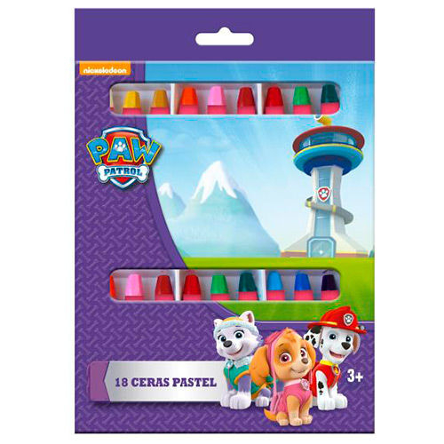 Creioane colorate cerate 18 bucati Paw Patrol pentru fete 0