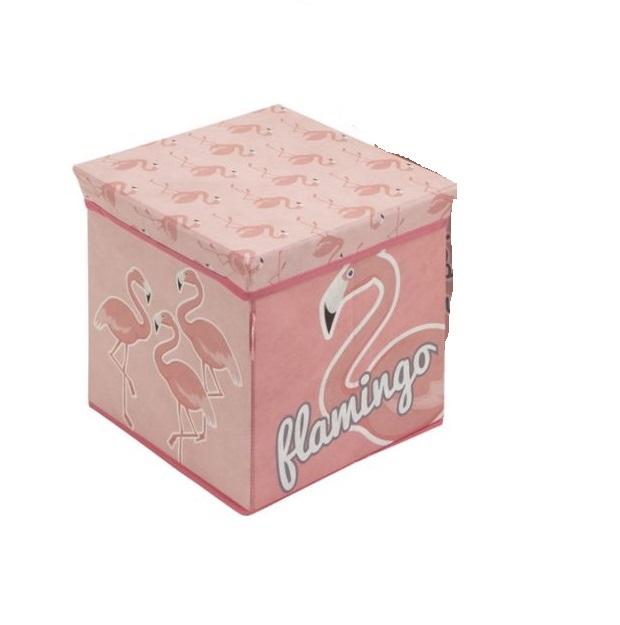 Cutie depozitare jucarii Arditex Flamingo 30x30x30 cm 0