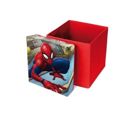 Cutie taburet depozitare jucarii Spiderman 31x31x33 cm 0
