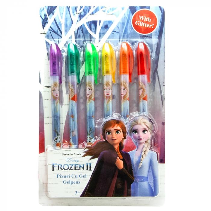 Set 6 pixuri sclipici Frozen, Elsa 0