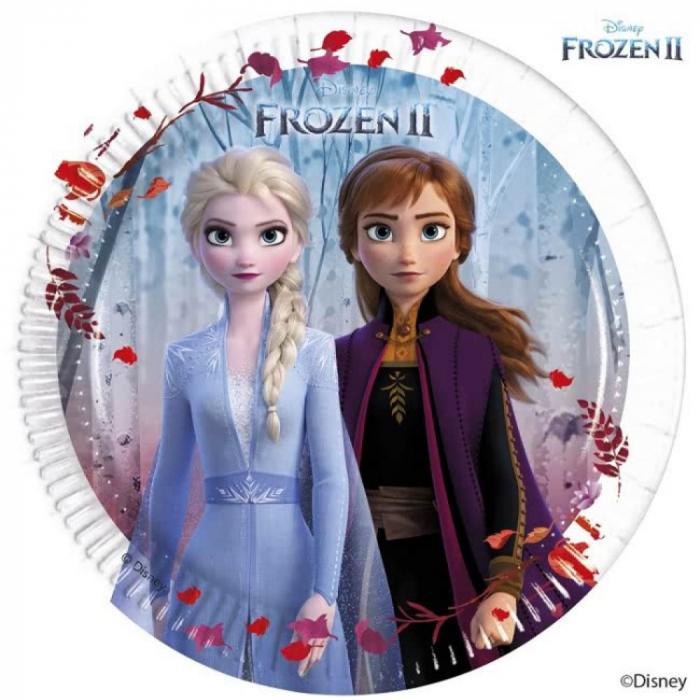 Set 8 farfurii carton Frozen II 19.5 CM 0