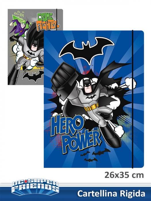 Dosar carton cu elastic Batman 26x35 cm [0]
