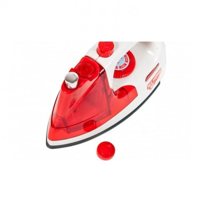 Fier de calcat pentru copii, jucarie cu sunete si lumini, 20 cm rosu [3]