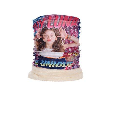 Fular tub guler imblanit Soy Luna alb 43x22 cm 0