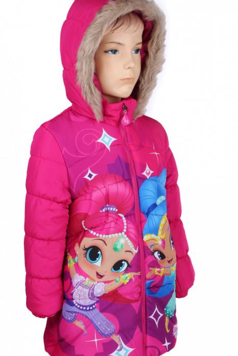 Geaca groasa Shimmer Shine, fucsia, 5 ani, 110 cm 1