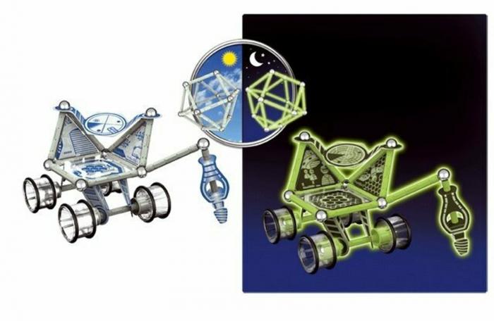 Geomag Glow, vehicul lunar, 60 piese 2