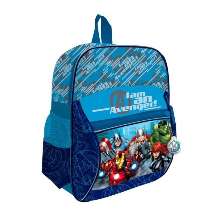 Ghiozdan Avengers albastru 2 compartimente 33 cm 0