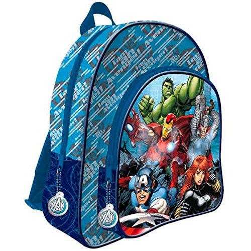 Ghiozdan Avengers albastru 2 compartimente 41 cm 1