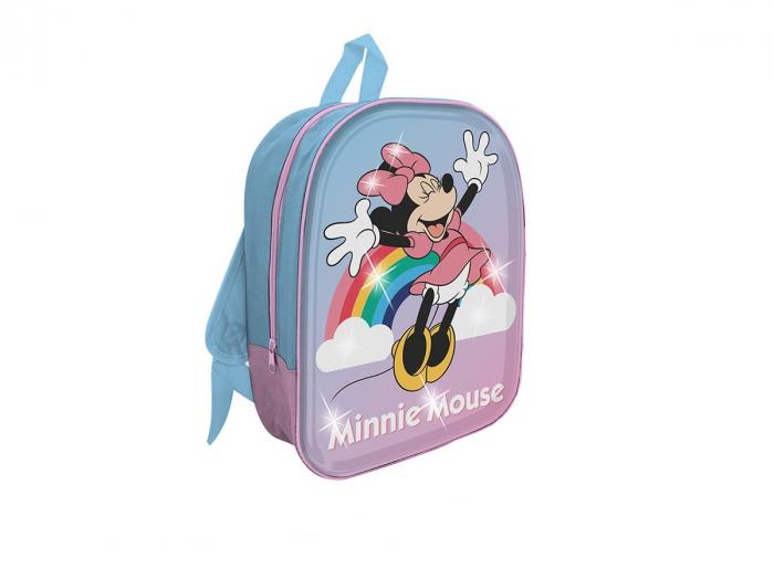 Ghiozdan gradinita Minnie Mouse 3D cu lumini 0