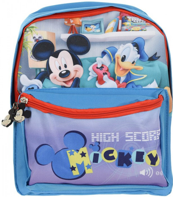 Ghiozdan gradinita Mickey Mouse bleu 29x24x10 cm 2