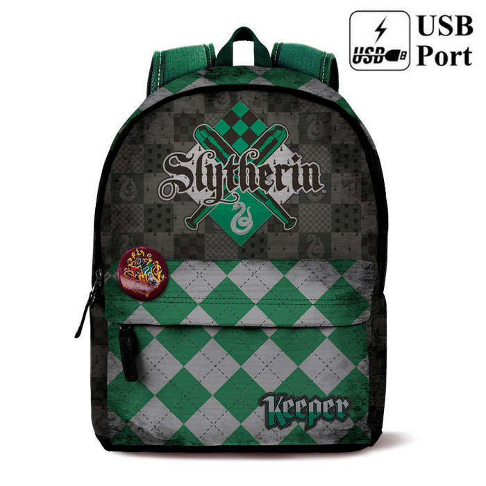 Ghiozdan Harry Potter Quidditch Slytherin 43x32x20cm 1