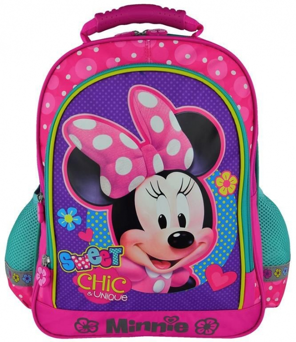 Ghiozdan Minnie Mouse 3 fermoare 38 cm 0