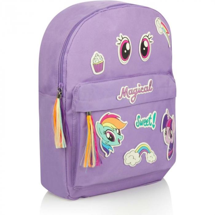 Ghiozdan My Little Pony cu stickere 38x28 cm [0]