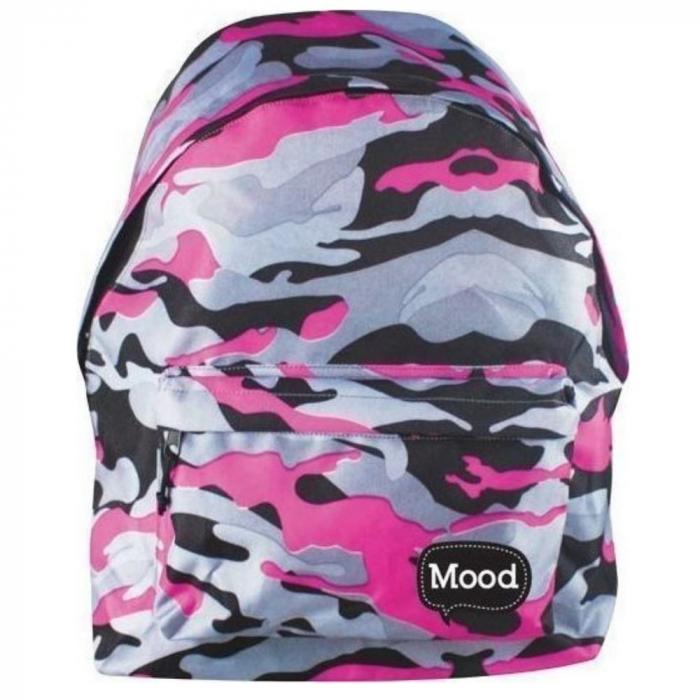 "Ghiozdan ""Pink Military"" 30x40x15 cm 0"
