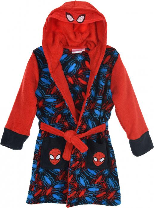 Halat baie pufos Spiderman rosu 8 ani , 128 cm 0