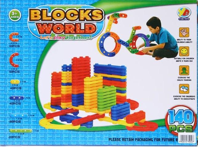 Joc de construit 140 piese plastic color 0