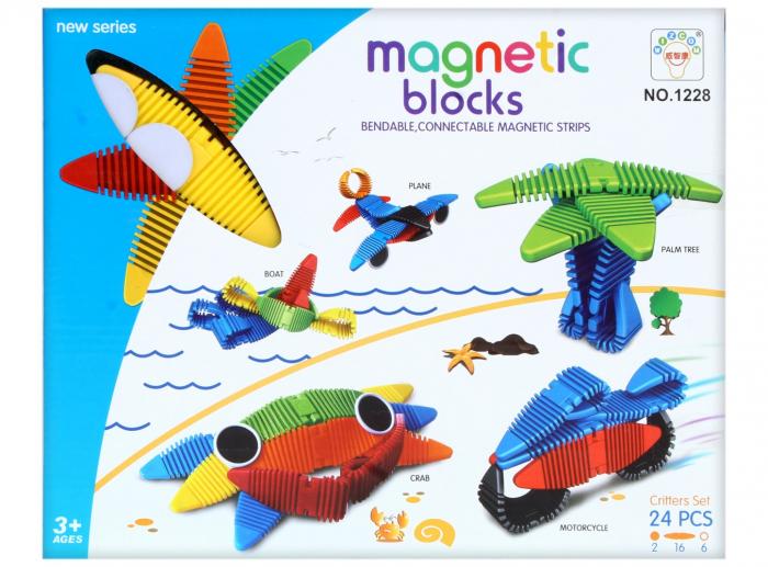 Joc de construit Magnetic Word 24 piese 1