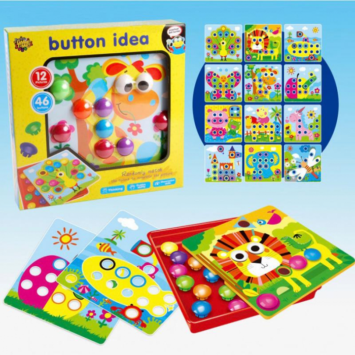 Joc Creativ Mozaic Button Idea [1]