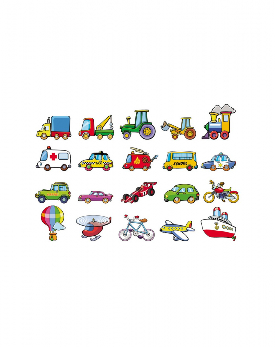 Joc magnetic cu vehicule, 20 piese [0]