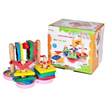 Jucarie educativa puzzle sortator 3D din lemn model fluture pentru copii [1]