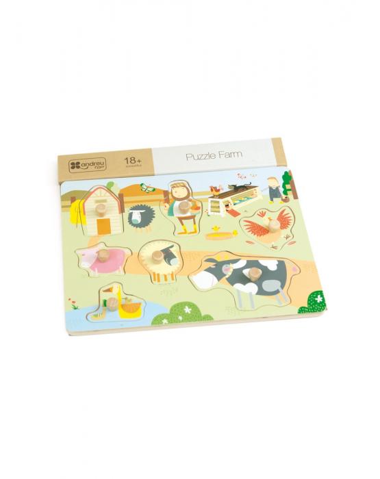 Puzzle din lemn incastru Ferma, 7 piese [3]