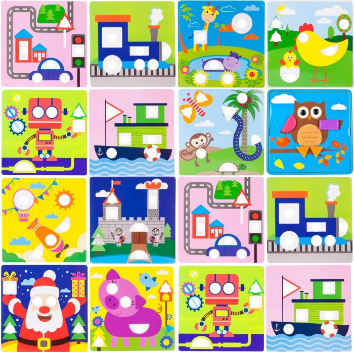 Jucarie educativa puzzle creativ forme geometrice [4]