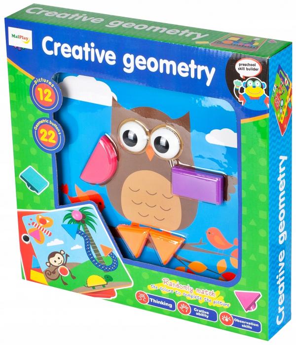 Jucarie educativa puzzle creativ forme geometrice [1]