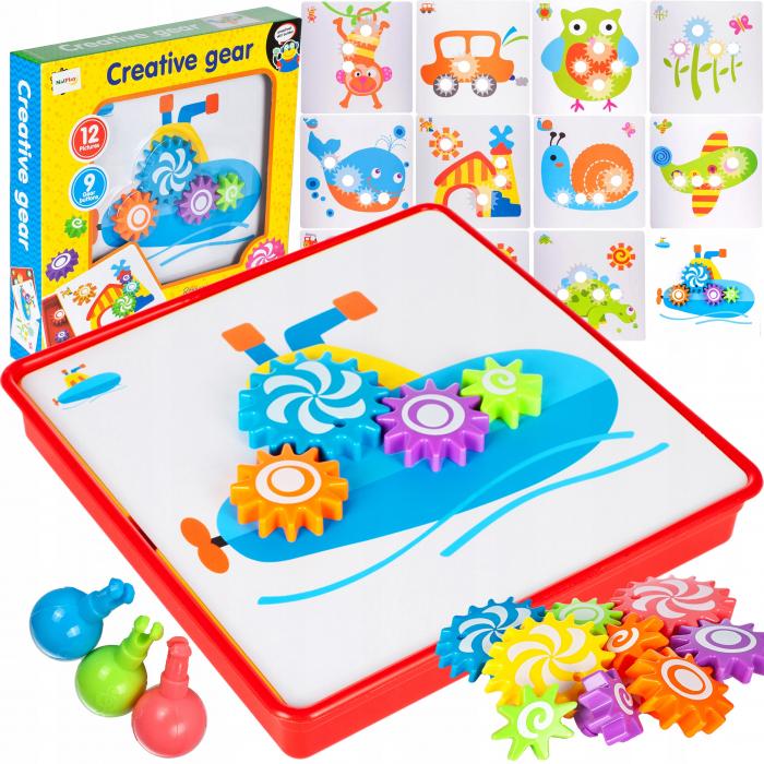 Jucarie educativa puzzle creativ Gear [1]