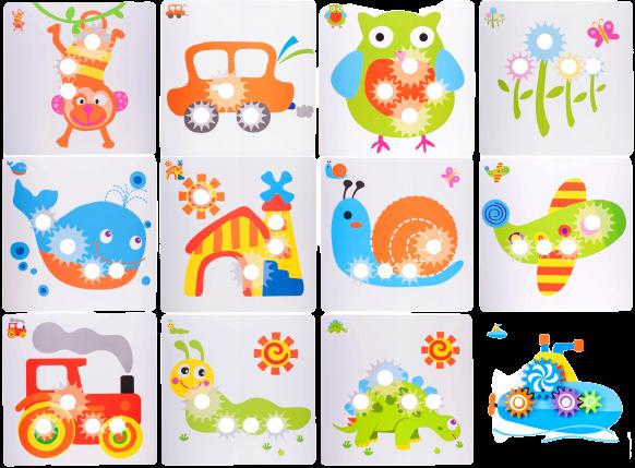 Jucarie educativa puzzle creativ Gear [3]
