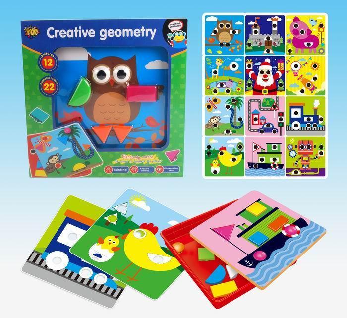 Jucarie educativa puzzle creativ forme geometrice [2]