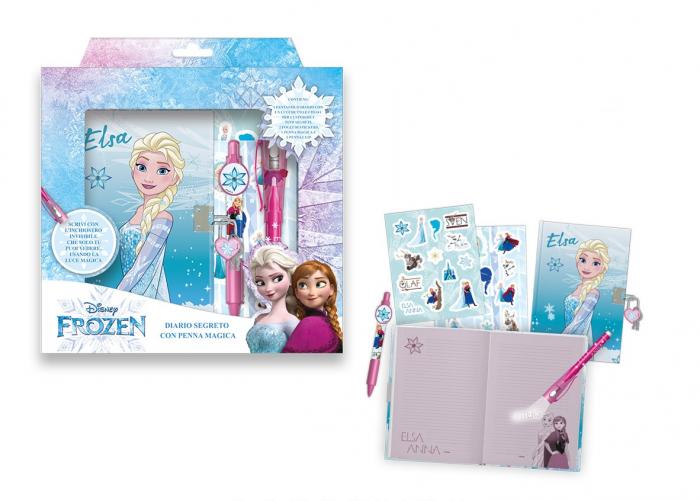 Jurnal Frozen + pix UV cu cerneala invizibila si stickere 1