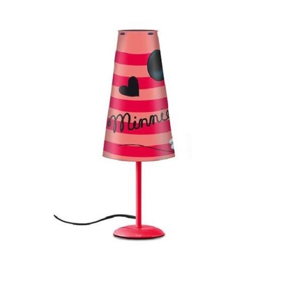 Lampa de veghe Minnie, rosu cu conectare la priza 1