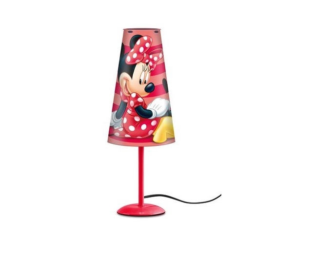 Lampa de veghe Minnie, rosu cu conectare la priza 0