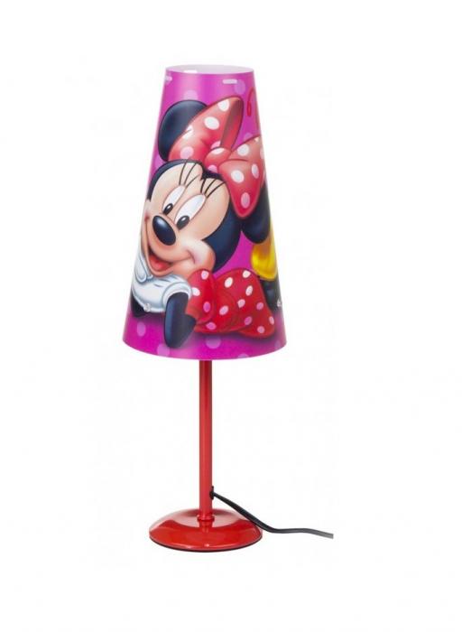 Lampa de veghe Minnie, roz cu conectare la priza 1