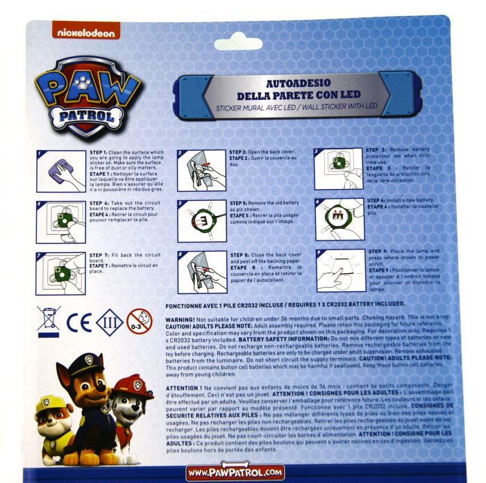Sticker LED perete Paw Patrol [2]