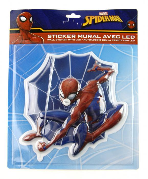 Sticker LED perete Spiderman 20x20 cm [1]