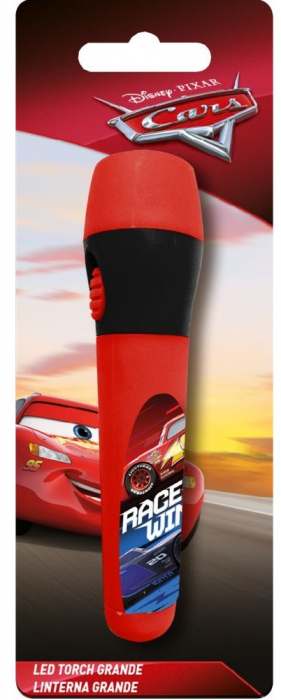 Lanterna LED copii Cars rosu 13.5 cm 0