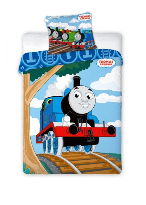 Lenjerie de pat copii,bumbac Thomas , 2 piese 100x135 cm, 40X60 cm [0]
